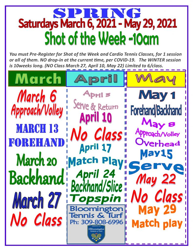 2021 SPRING Shot of the Week Flyer - Copy